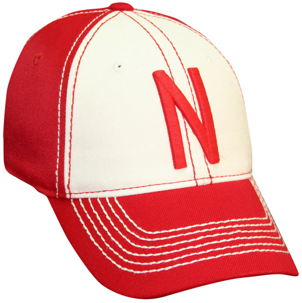 Red Skinny N Cream and Red Hat husker football, nebraska merchandise, husker merchandise, nebraska cornhuskers apparel, husker apparel, nebraska apparel, husker hats, nebraska hats, nebraska caps, husker caps, Nebraska Cornhuskers, Red Skinny N Cream and Red Hat