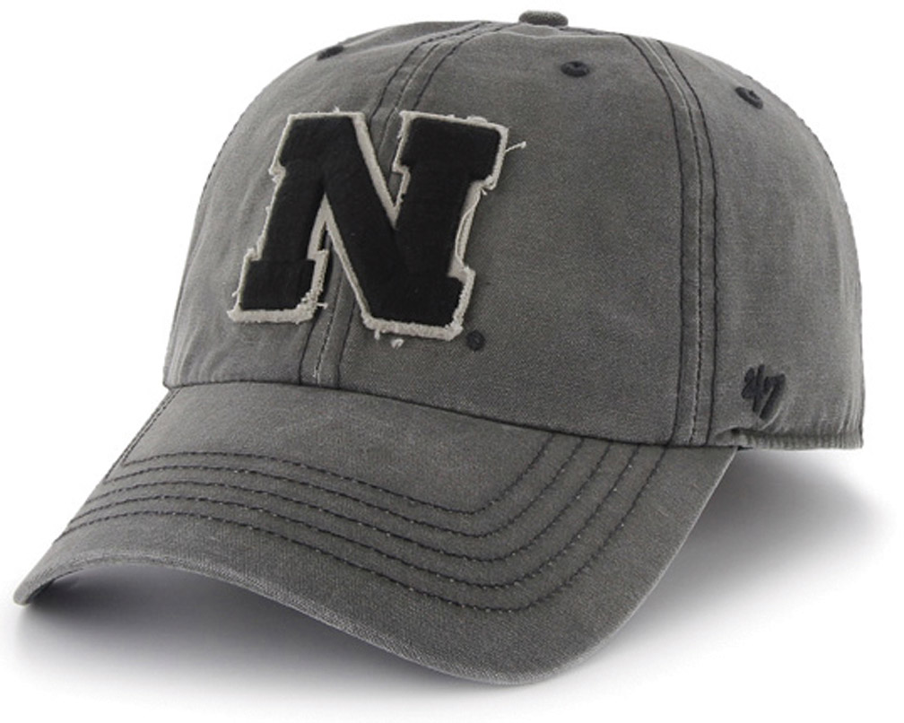 Graphite Adjustable Hat Washed Look Nebr Graphic husker football, nebraska merchandise, husker merchandise, nebraska cornhuskers apparel, husker apparel, nebraska apparel, husker hats, nebraska hats, nebraska caps, husker caps, Nebraska Cornhuskers, Graphite Adjustable Hat Washed Look Nebr Graphic