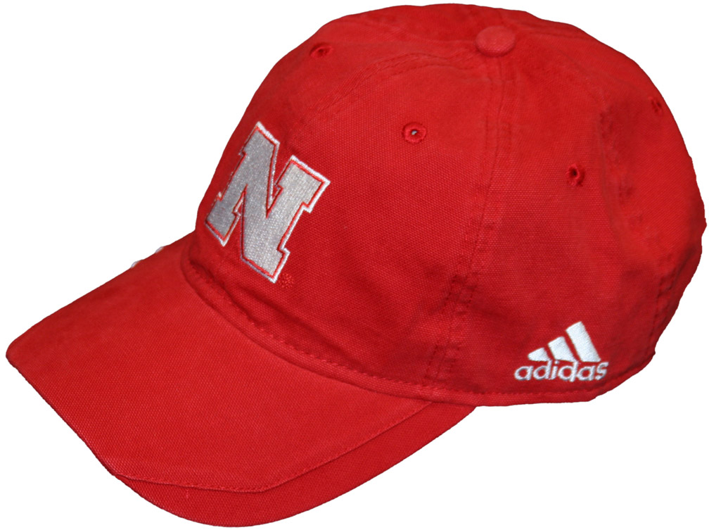 Adidas Red Coaches Slouch Adjustable husker football, nebraska merchandise, husker merchandise, nebraska cornhuskers apparel, husker apparel, nebraska apparel, husker hats, nebraska hats, nebraska caps, husker caps, Nebraska Cornhuskers, Adidas Red Coaches Slouch Adjustable
