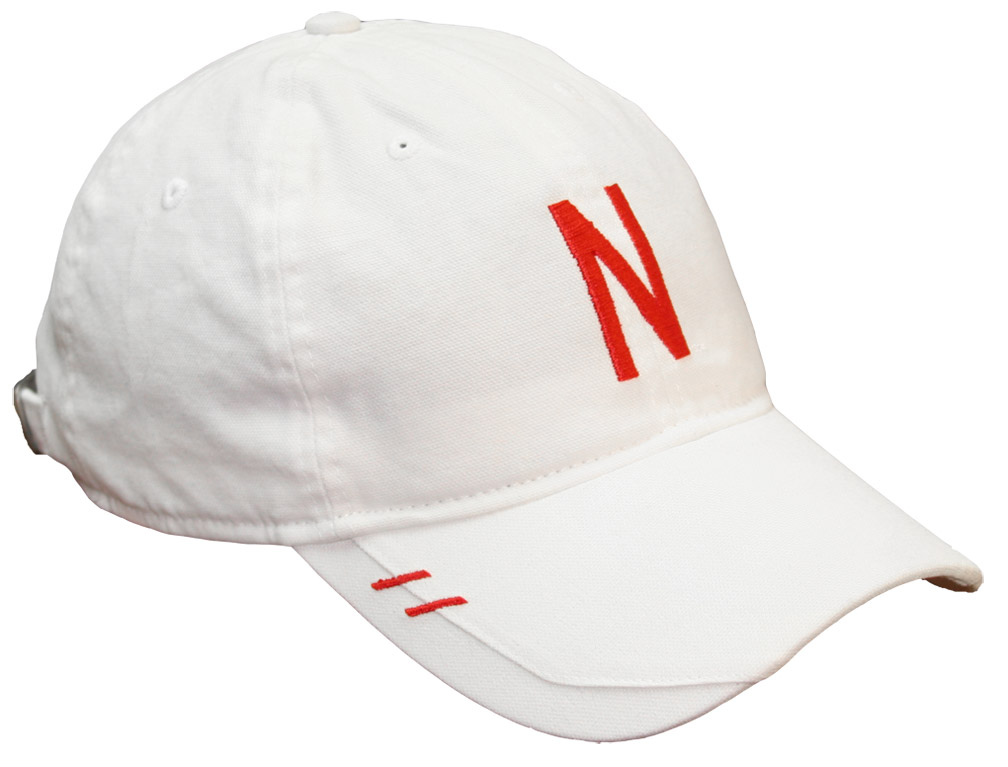 Adidas White Coach Pelini Slouch Adjustable husker football, nebraska merchandise, husker merchandise, nebraska cornhuskers apparel, husker apparel, nebraska apparel, husker hats, nebraska hats, nebraska caps, husker caps, Nebraska Cornhuskers, Adidas White Coach Pelini Slouch Adjustable