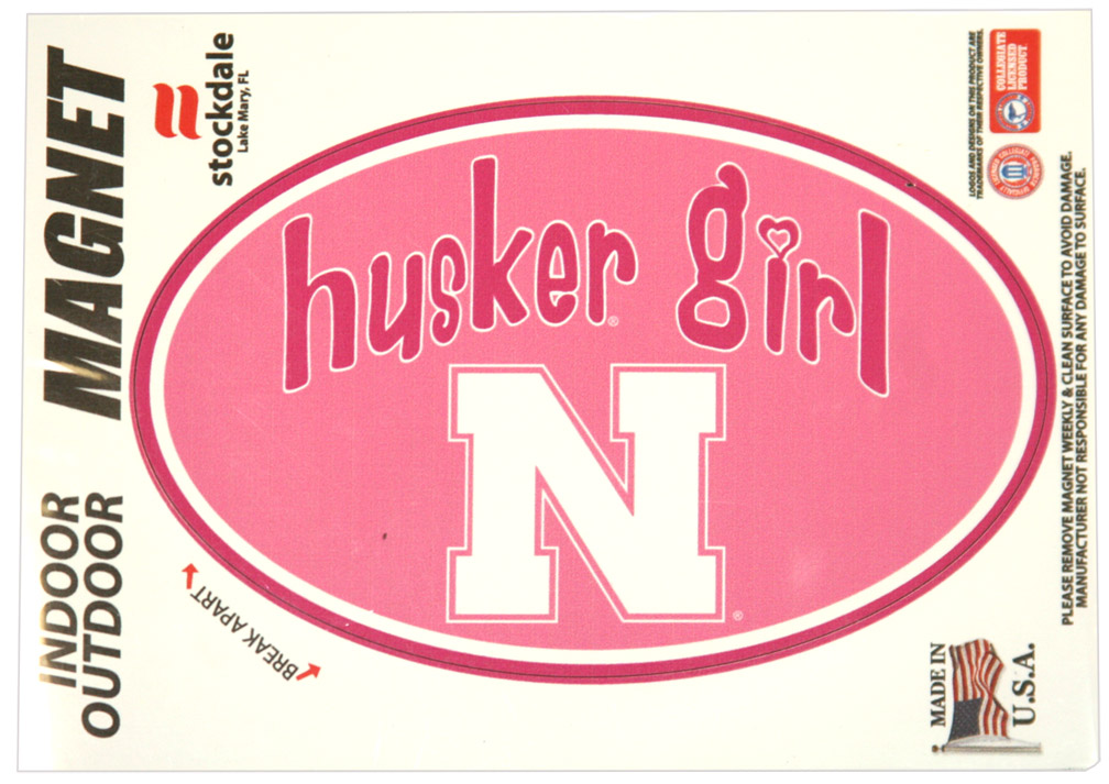Husker Girl Magnet Nebraska Cornhuskers, husker football, nebraska cornhuskers merchandise, nebraska merchandise, husker merchandise, nebraska cornhuskers apparel, husker apparel, nebraska apparel, husker womens apparel, nebraska cornhuskers womens apparel, nebraska womens apparel, husker womens merchandise, nebraska cornhuskers womens merchandise, womens nebraska accessories, womens husker accessories, womens nebraska cornhusker accessories,Husker Girl Magnet