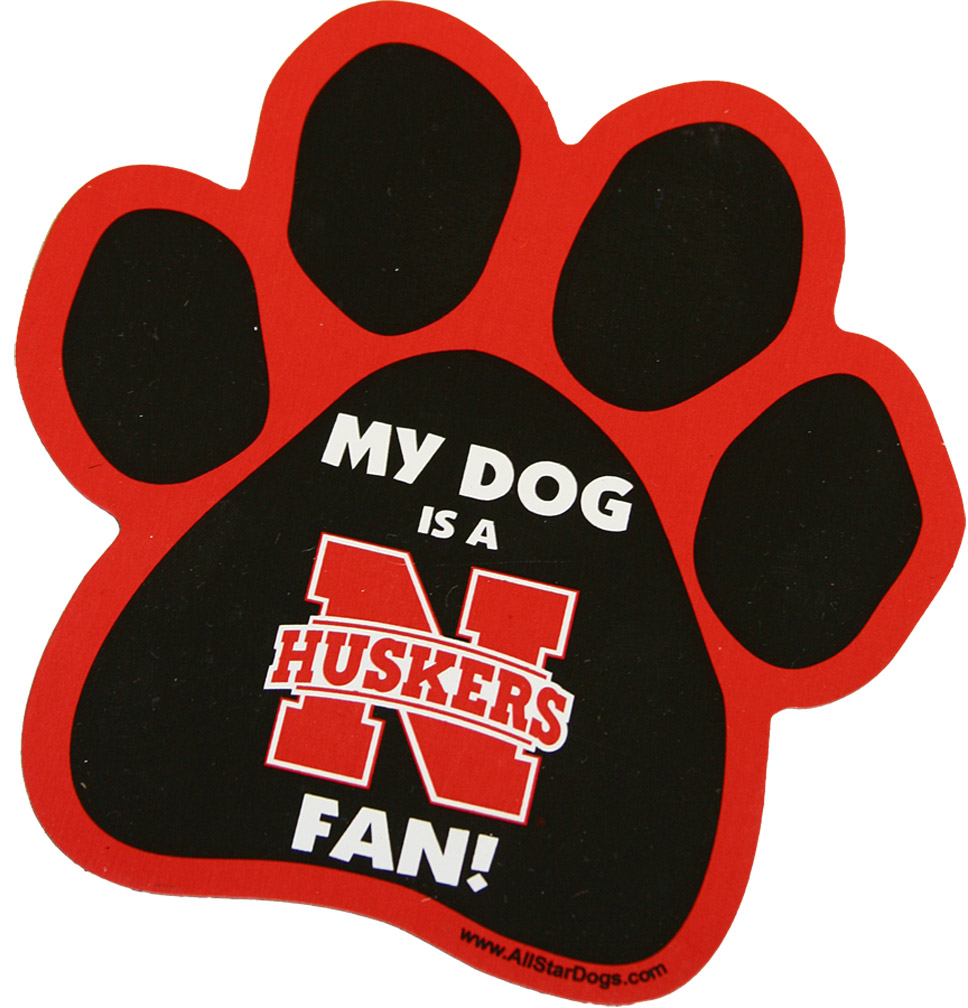 Nebraska Dog Paw Magnet Nebraska Cornhuskers, husker football, nebraska cornhuskers merchandise, nebraska merchandise, husker merchandise, nebraska cornhuskers apparel, husker apparel, nebraska apparel, husker youth apparel, nebraska cornhuskers youth apparel, nebraska kids apparel, husker kids apparel, husker kids merchandise, nebraska cornhuskers kids merchandise, Nebraska Dog Paw Magnet