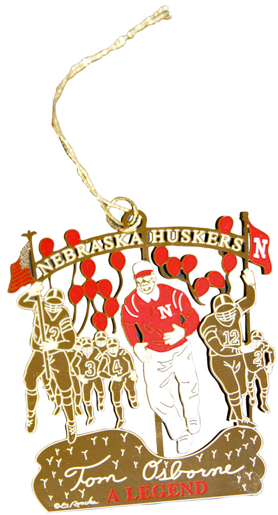 Osborne Commemorative Ornament Nebraska Cornhuskers, Husker Football, Cornhusker Merchandise, Osborne Commemorative Ornament