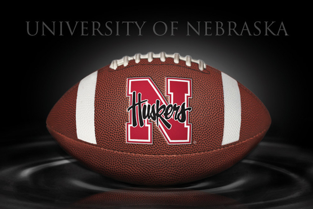 Distinguished Football Print Nebraska Cornhuskers, Distinguished Football Print