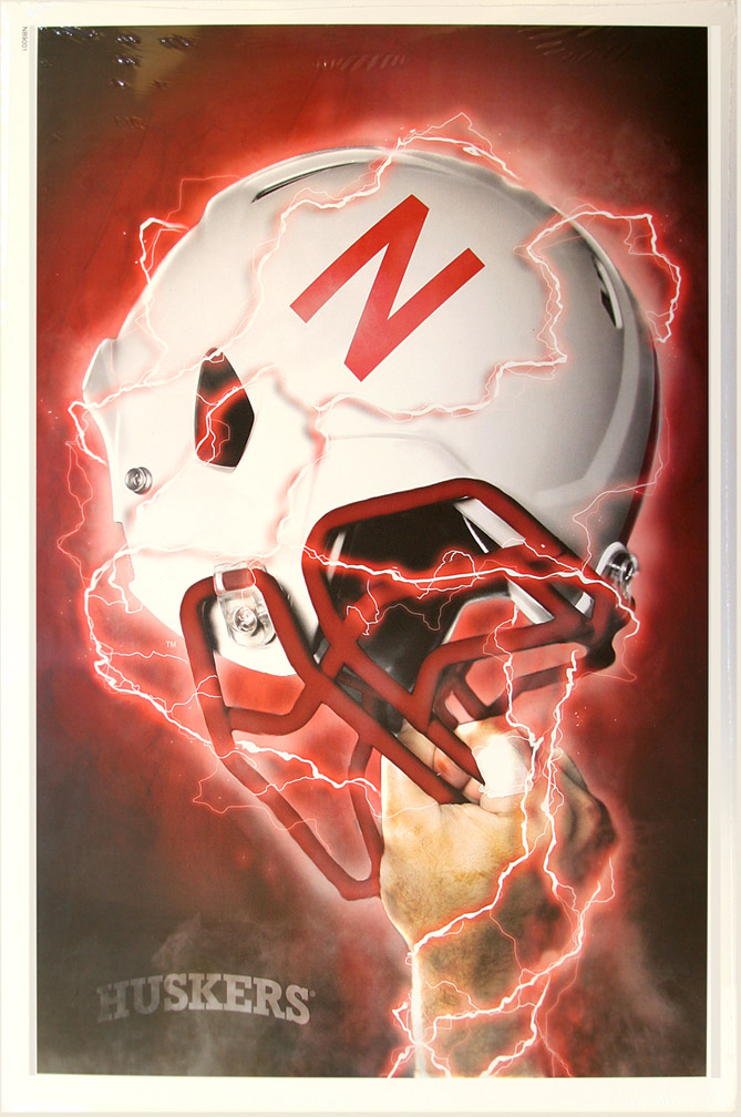 Helmet Ignition Print Nebraska Cornhuskers, Helmet Ignition Print