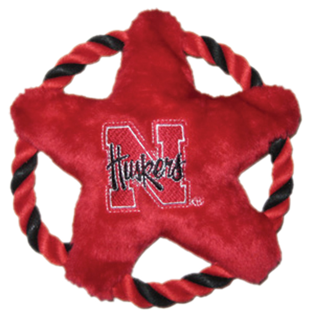 STAR DISK PET TOY Nebraska Cornhuskers, husker football, nebraska merchandise, husker merchandise, nebraska cornhusker merchandise, nebraska cornhuskers pet items, husker pet items, STAR DISK PET TOY
