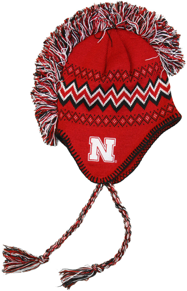 Youth Mohawk Tassel Knit Hat Nebraska Cornhuskers, husker football, nebraska cornhuskers merchandise, nebraska merchandise, husker merchandise, nebraska cornhuskers apparel, husker apparel, nebraska apparel, husker youth apparel, nebraska cornhuskers youth apparel, nebraska kids apparel, husker kids apparel, husker kids merchandise, nebraska cornhuskers kids merchandise,Youth Mohawk Tassel Knit Hat