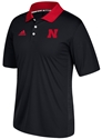 Adidas 2017 Husker Sideline Coaches Lights-Out Polo