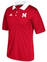 Adidas 2017 Husker Sideline Coaches Home Polo