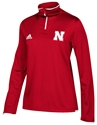 Adidas Husker Ladies Iconic Quarter Zip - Red