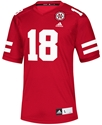 Adidas No. 18 Nebraska Football Replica Jersey