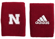 Adidas Red 4 inch Husker Wristband