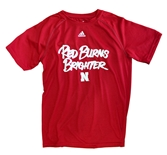 Adidas Youth Huskers Red Burns Brighter Tee