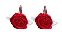 Big Red Gameday Flower Hair Clips