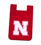 Cell Phone Wallet Husker Card Holder - Red