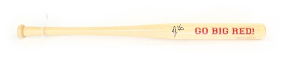 Coach Erstad Autographed Natural Mini Bat