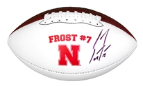 Coach Scott Frost Autographed 'Frost 7' Nebraska Football