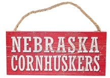 Cornhuskers Plank Wood Sign