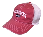 Dyed Mesh Back Nebraska Arch Hat
