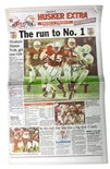 Frost N Osborne Signed 1997 National Champs Husker Extra Section