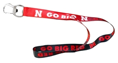 Go Big Red Ombre Lanyard