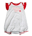Huskers Girl Ruffle Sparkle Onesie