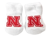 Husker N Baby Bootie Set - White