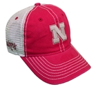 Huskers Crosswind Khaki Washed Cap