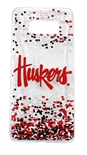 Huskers Galaxy S8+ Confetti Clear Slim Case