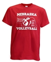 Huskers National Champ Year Volleyball Tee