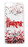 Huskers iPhone 6 , 7 and 8 Confetti Clear Slim Case