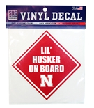 Lil Husker On Board Decal