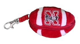 Nebraska Bear Clip Zipper Football