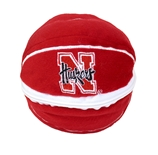 Nebraska Bear Zipper Basketball Toy
