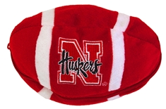 Nebraska Bear Zipper Football Toy