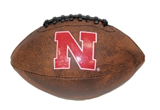 Nebraska Brown Leather Junior Football