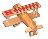 Nebraska Huskers Crafted Wooden Airplane