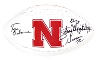 Nebraska Icons Autographed Football