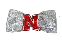Nebraska Metallic Hair Bow