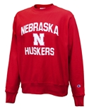 Nebraska Reverse Weave Champion Crew - Red