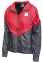Nebraska Womens Duo Tone Windbreaker
