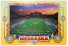 Osborne and Frazier Autographed Fiesta Bowl Print