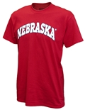 Red Bold Nebraska Arch Tee