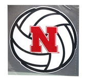 Volleyball N Logo Decal