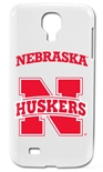 White N Husker Smartphone Case for Galaxy S4