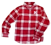 Youth Husker Hans Flannel Button Down