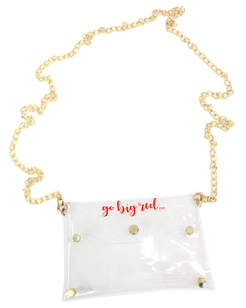 Clear Go Big Red Purse