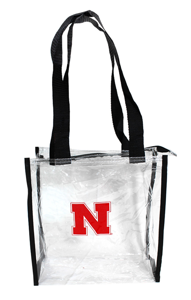 Clear Zippered Nebraska Tote Bag