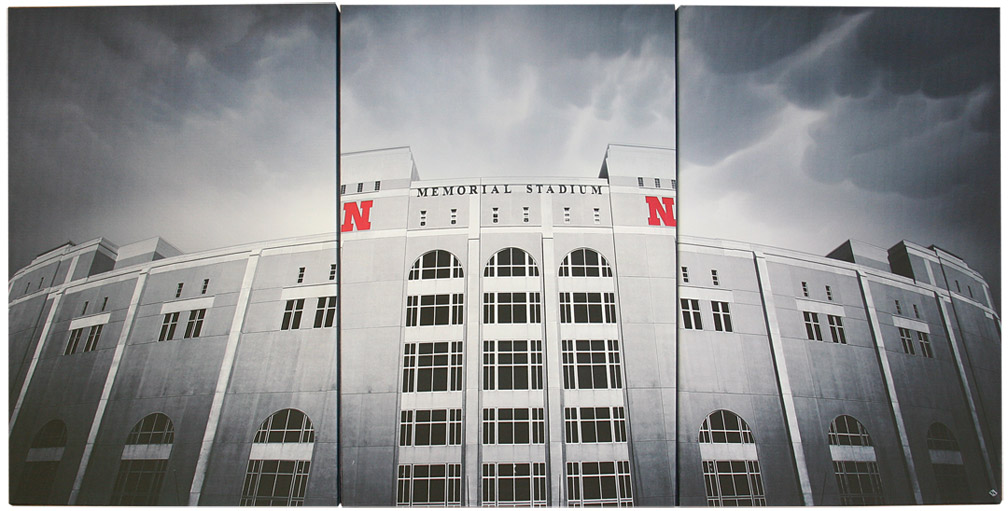Cornhuskers Memorial Stadium Canvas