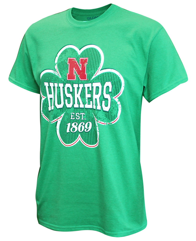 Lucky Huskers Iron N Clover Tee